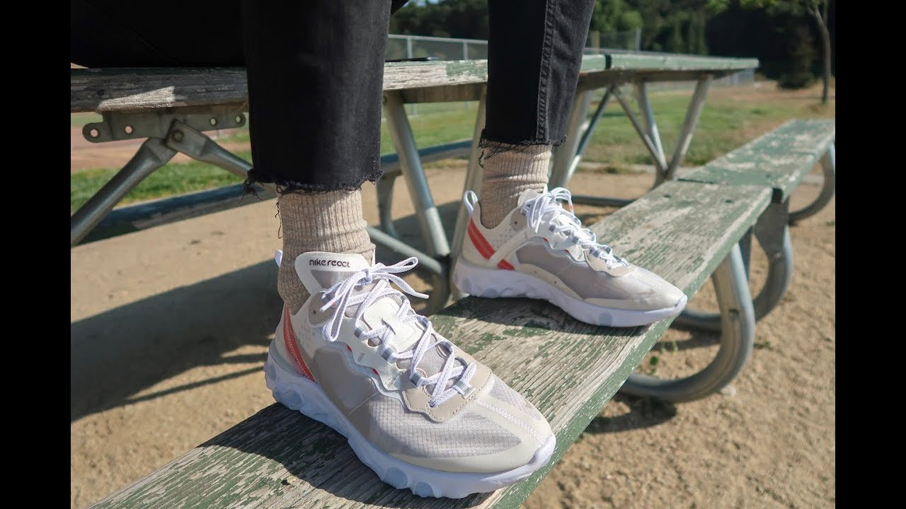 59410029e3584 Most Hyped Shoe of the Year  Nike React Element 87 Sail Unboxing + ...