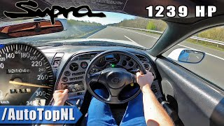 1239HP Toyota Supra HUGE TURBO! on AUTOBAHN (NO SPEED LIMIT) by AutoTopNL