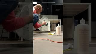 Полировка закаленного стекла пастой 3M Glass Polishing Compound