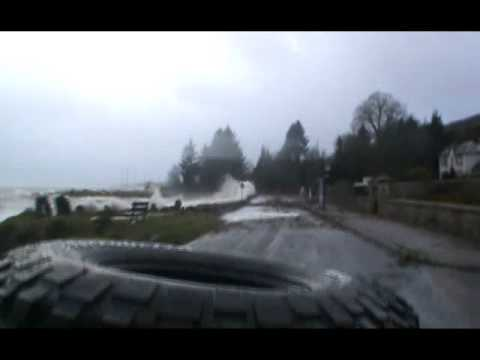 Dunoon flood:  Another day in paradise....