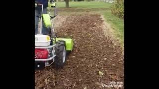 Grillo G 110 z glebogryzarką - wielofunkcyjny traktor jednoosiowy (zakładanie ogrodów)