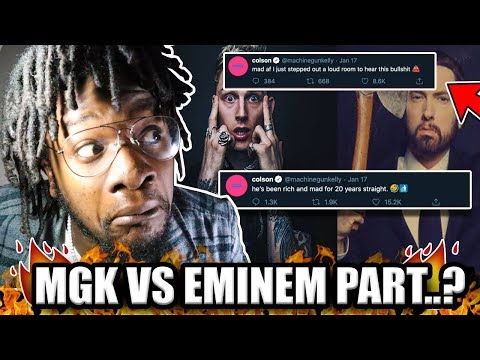 EMINEM VS MGK THE SAGA CONTINUES !   MGK Responds to Eminem MTBMB Disses (REACTION)