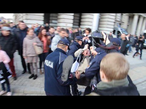 Policja rozmontowuje blokad? Antify - 83. Rocznica ONR 29.04.2017