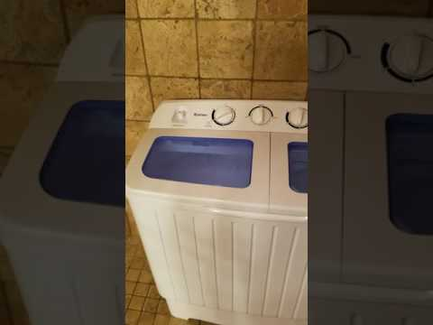 How to use Costway twin-tub washing machine