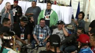 Northern Cree Host Drum in Thief River Falls May 2014