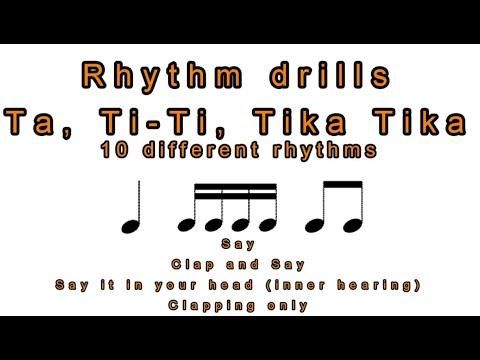 Resource: Rhythm Drills - Quarter, Eighth, Sixteenth Notes - Sing Step Grow!