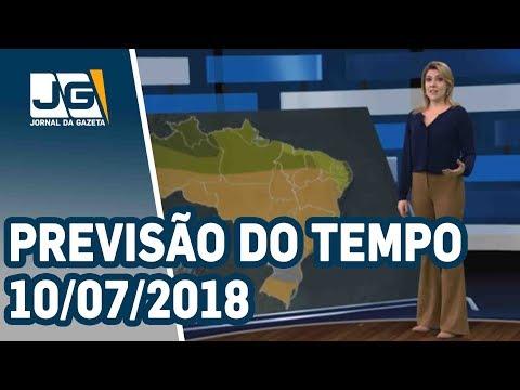 Previsão do Tempo – 10/07/2018