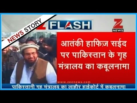 Pakistan accepts association of JuD chief Hafiz Saeed with terrorism-related activities
