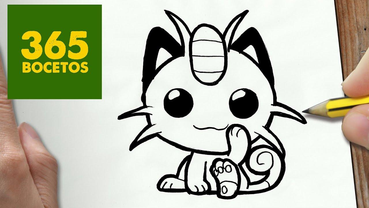 Como Dibujar Meowth Kawaii Paso A Paso Dibujos Kawaii Faciles How To Draw Meowth