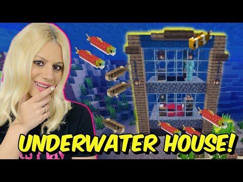 ΧΤΙΖΩ ΣΠΙΤΙ ΜΕΣΑ ΣΤΟΝ ΩΚΕΑΝΟ ***ΑΠΙΣΤΕΥΤΟ*** Minecraft Let's Play Kristina @Kristina Ekou