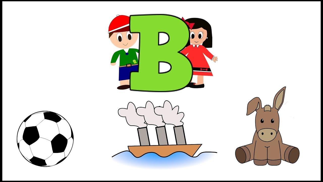 Letra b aprender a leer y escribir v deos para ni os for La b b