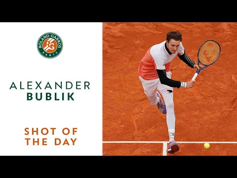 Bublik beating Monfils at his own game - RG Day 2 Shot of the Day