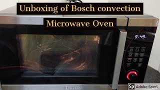 Unboxing Bosch Convection Microwave oven #28L# HMB45C453X# First Video# frylite
