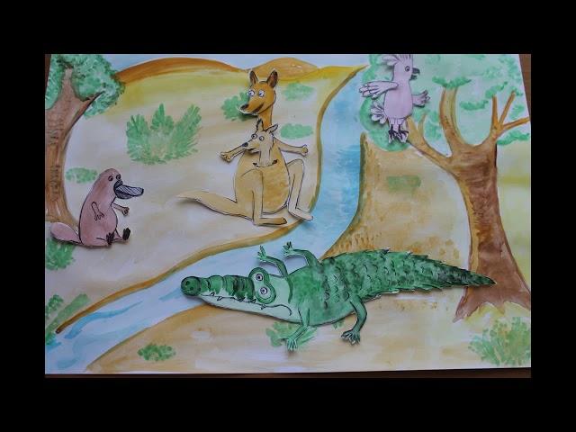 Изображение предпросмотра прочтения – АнтонСимонов представляет буктрейлер кпроизведению «Что было в сумке у кенгуру» А.А.Усачева