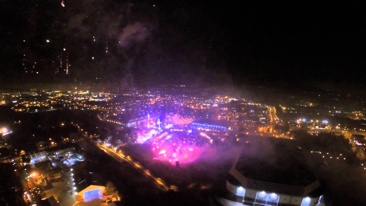 Dji Phantom 2 Sheffield Fireworks 2014 After Dark Don