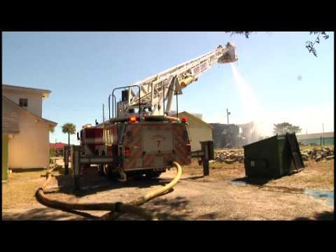 Atlantic Beach motel catches fire