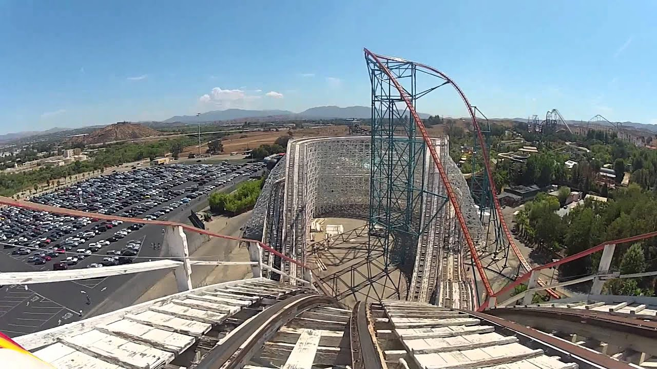 colossus roller coaster six flags magic mountain