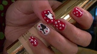 Tutorial: 50s Retro Poodle Skirt Inspired Nails