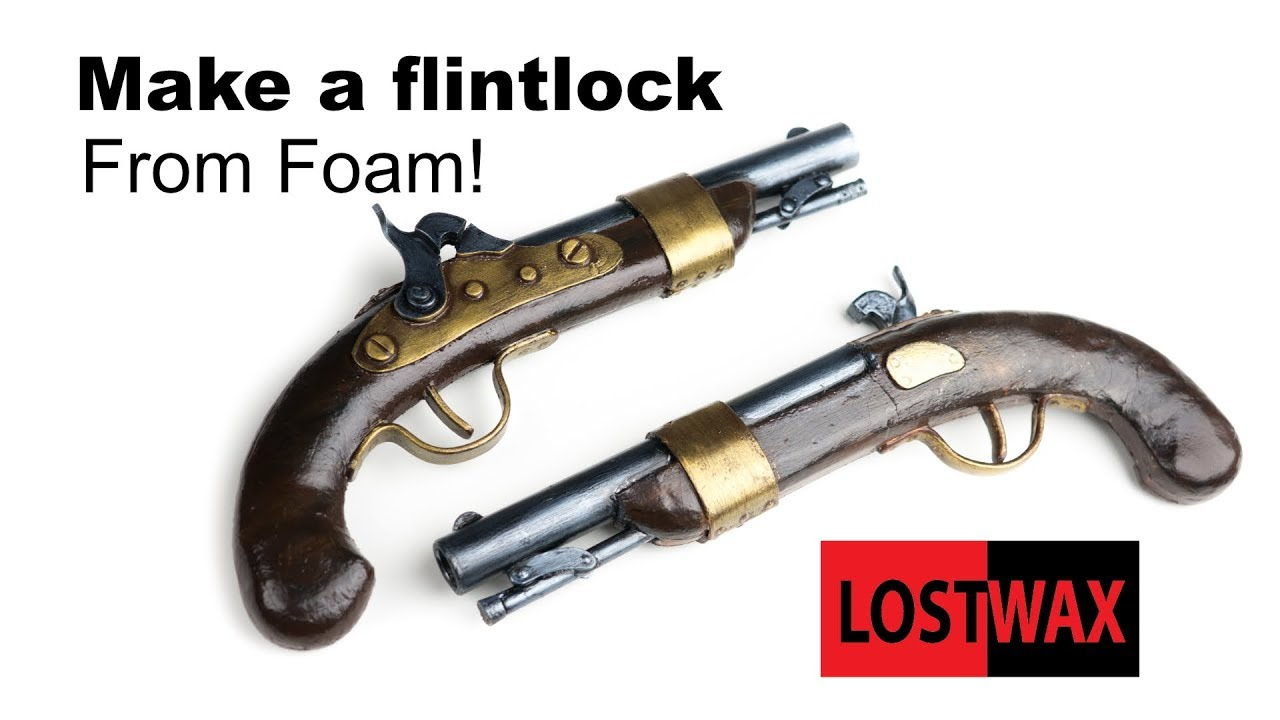 How to Make a Cosplay Flintlock From EVA Foam  DIY Pirate Gun, Pistol