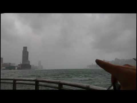 Periscope Rewind - Typhoon HATO from the Star Ferry Pier in Hong Kong