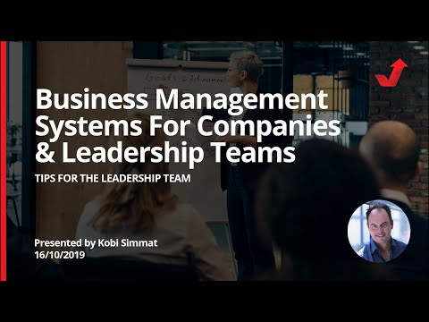 Business Management systems for COMPANIES and LEADERSHIP teams