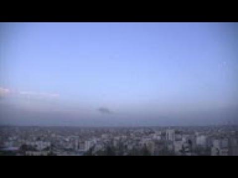 Barrage Of Rockets From Gaza Towards Israel