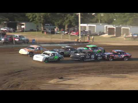 IMCA Stock Car Heats Independence Motor Speedway 8/12/17