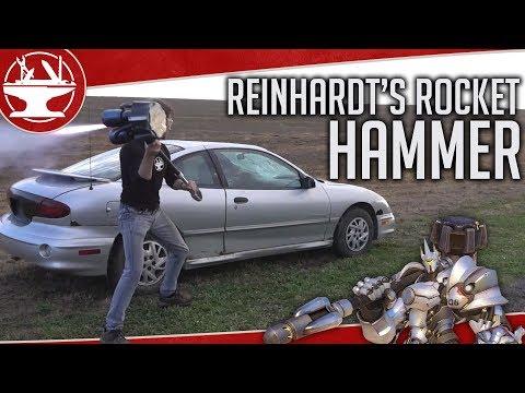 DESTROYING A CAR With Reinhardt's Rocket Hammer!!!