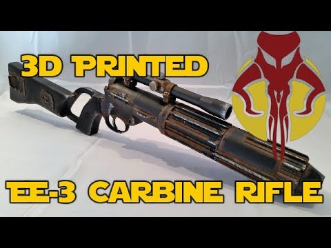 3D Printed EE-3 Carbine Rifle Build |Time-lapse| Thingiverse STL File |  Movie Prop Gun |