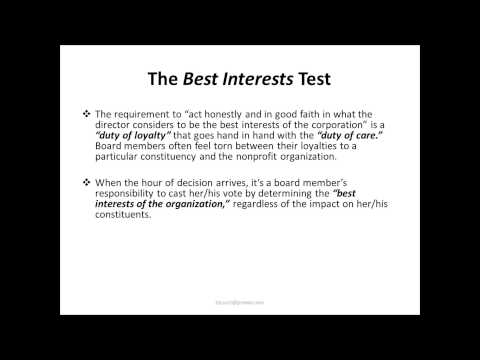 "Board of Directors Training Webinar Part 3: ""Conflicts of Interests"""
