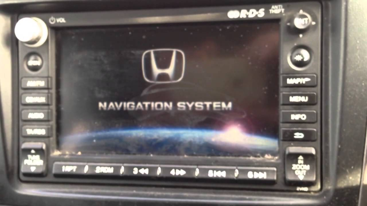 What Happened To My Honda Crv Radio Cd Satnav Camera Youtube