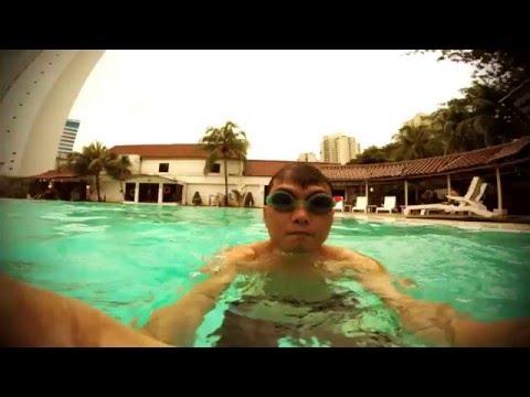 swimming at hotel atlet century park swimming pool jakarta youtube