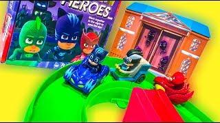 Игровой набор Герои в масках машины 2017. Машинки мультики 4 5 Герои в масках  подряд.