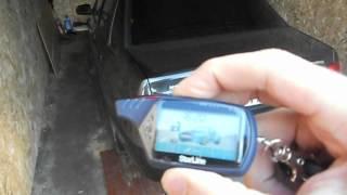Дистанционное открытие багажника на Старлайн А91.AVI