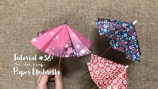 How to Make DIY Origami Paper Umbrella? | The Idea King Tutorial #38