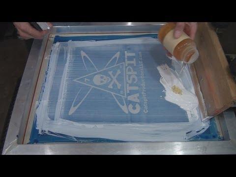 How To Screen Print Nylon Or Satin Jackets