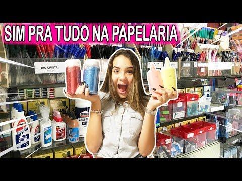 MINHA MÃE DISSE SIM PRA TUDO NA PAPELARIA #2