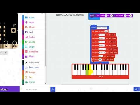 การทำเพลงคุ๊กกี้เสี่ยงทาย  โดยใช้คำสั่ง music ในโปรแกรม makecode microbit