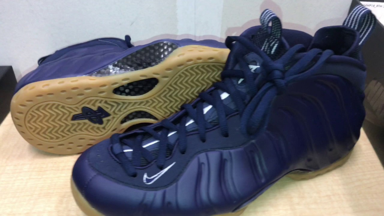 Air Foamposite One Black Navy Blue Air jordans retro Nike ...