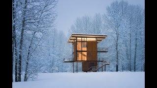 Steel Weekend Cabin On Stilts Designed For Safe Mountain Getaways