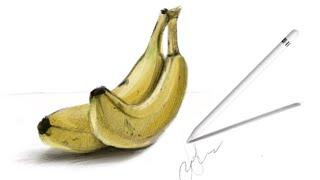✨Как красиво рисовать фрукты на планшете iPad В Procreate ✨Ботаническая Иллюстрация. Урок/туториал