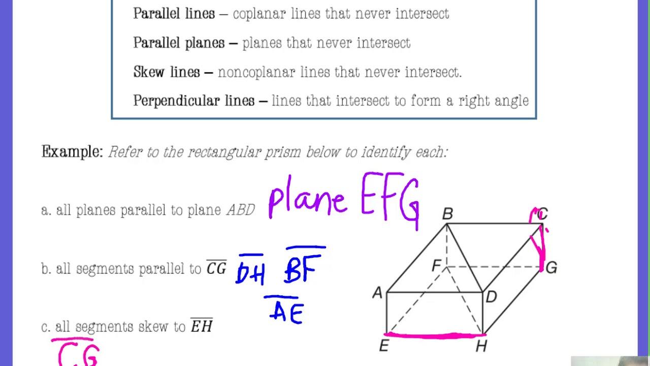 3 1 Parallel, Skew, Perpendicular