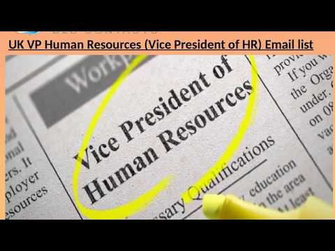 UK VP Human Resources Vice President of HR Email l