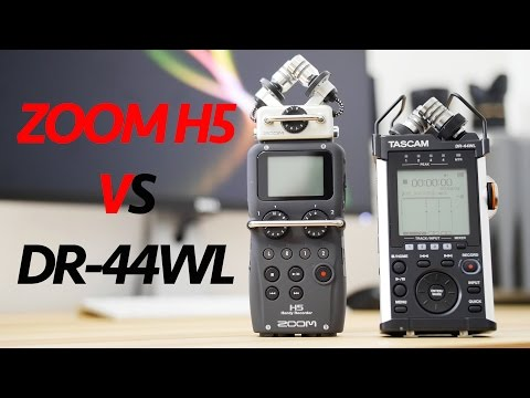 Tascam DR-44WL VS Zoom H5 - Detailed Comparison & Test