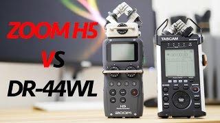 Tascam DR-44WL VS Zoom H5 - Detailed Comparison & Test