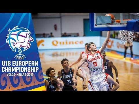 Turkey V France - Full Game - FIBA U18 European Championship 2019