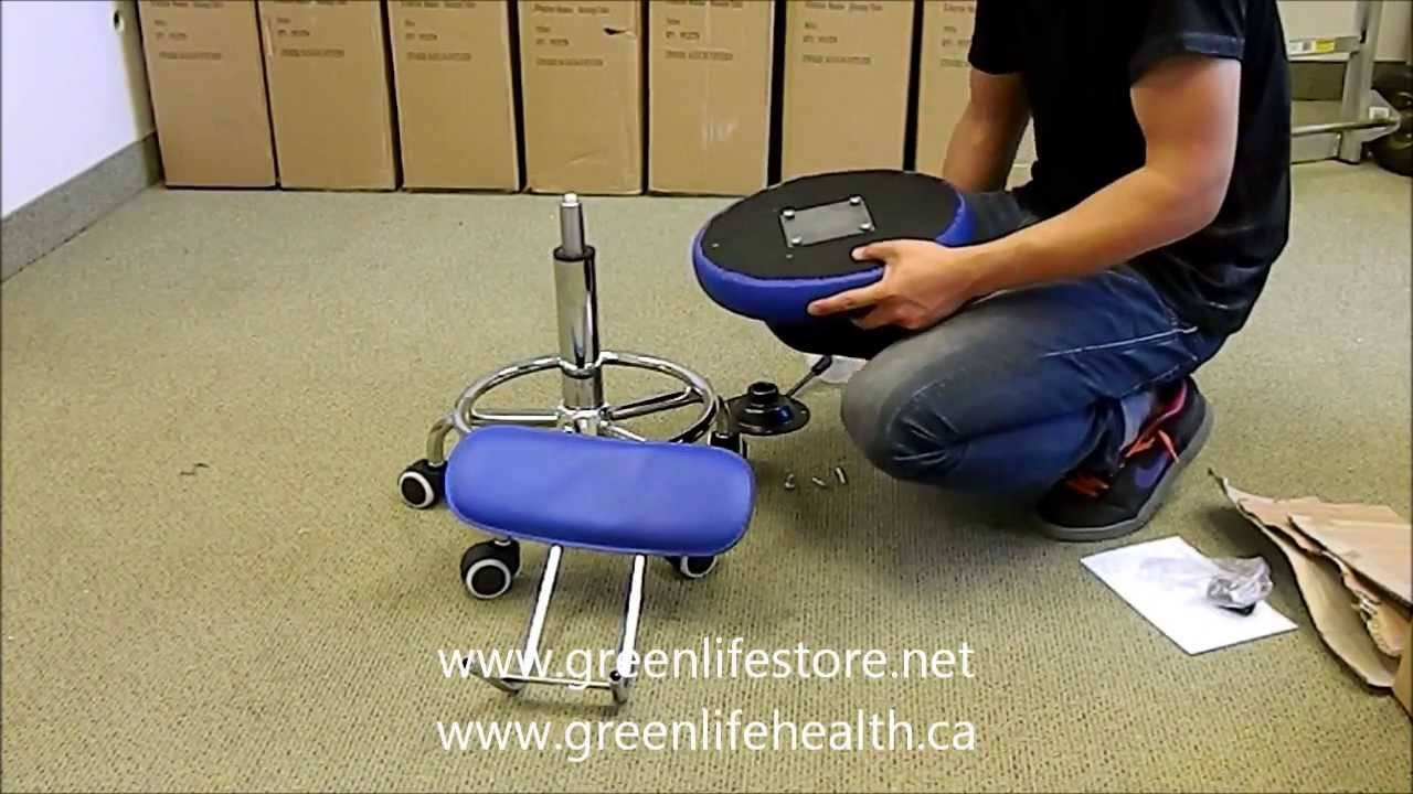 How To Assemble Build A Rolling Stool With Backrest Back