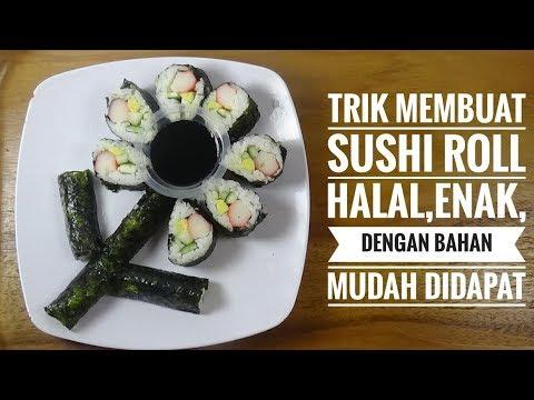 Cara Membuat Sushi Roll HALAL, HEMAT, ENAK DENGAN BAHAN MUDAH DIDAPAT