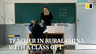 Primary schoolteacher in rural China remains loyal to his one last underprivileged pupil