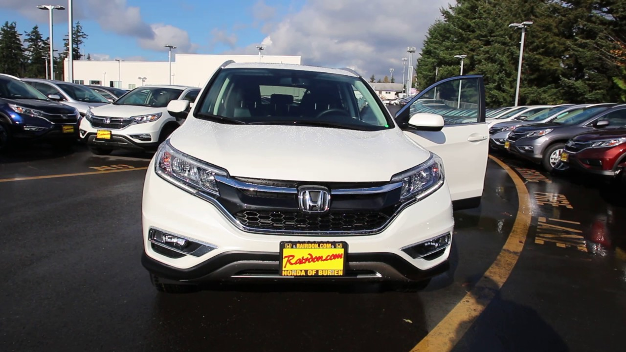 2016 honda cr v ex l diamond white gl002818 seattle for Honda crv 2016 white